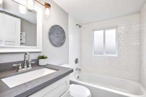 modern bathroom remodeling project